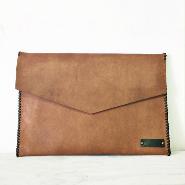 Tan Luxe Leather Laptop Sleeve