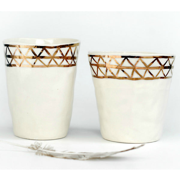 Copper Arrows Ceramic Tumblers