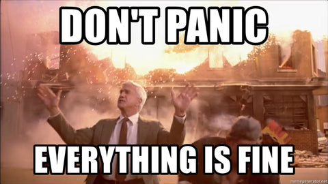 Don't panic everything is fine meme
