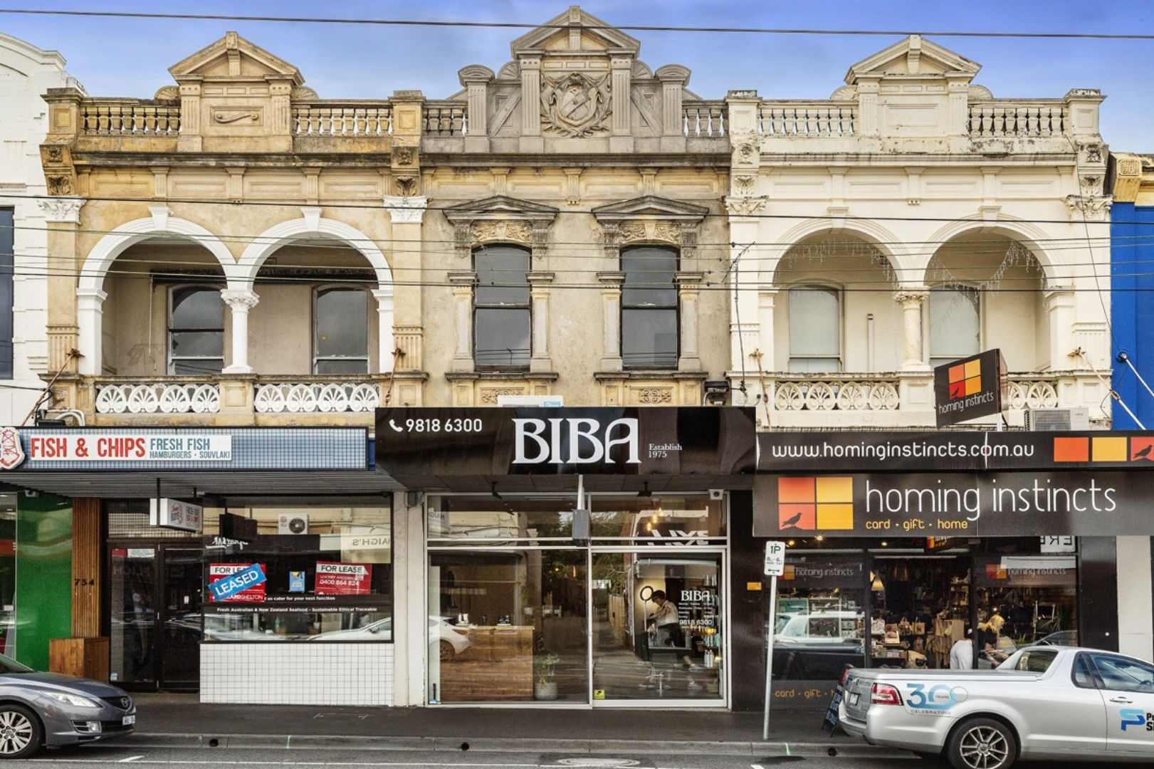 Exterior shot of the Homing Instincts shop on Glenferrie Rd Hawthorn