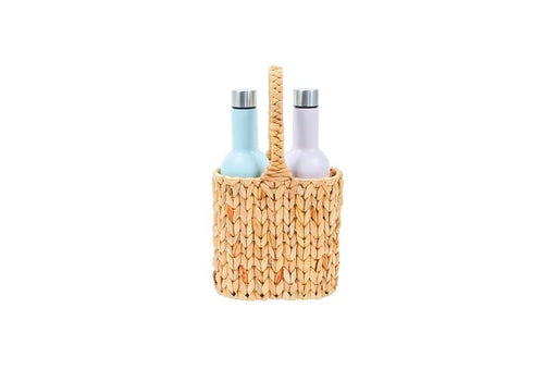 Annabel Trends | Picnic Wine Carrier - Water Hyacinth-Annabel Trends-Homing Instincts