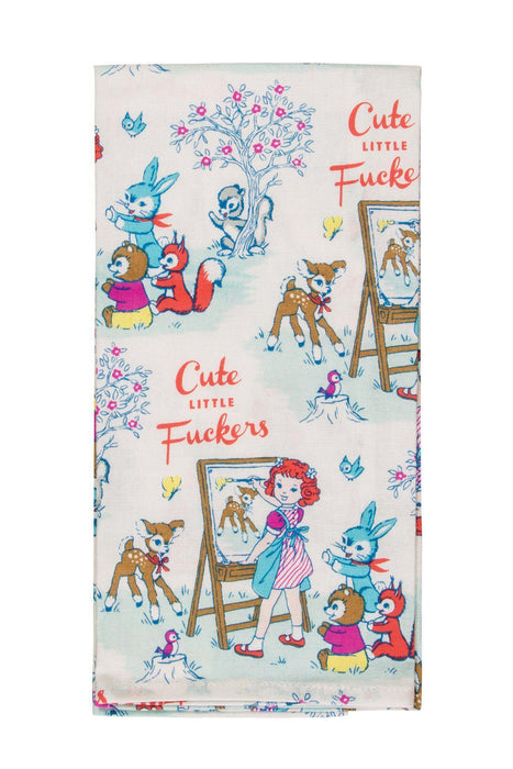 Blue Q | Cute Little F**kers Tea Towel-Blue Q-Homing Instincts