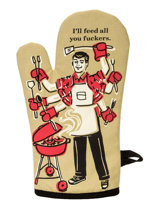 Blue Q | Feed you F**kers Oven Mitt-Blue Q-Homing Instincts