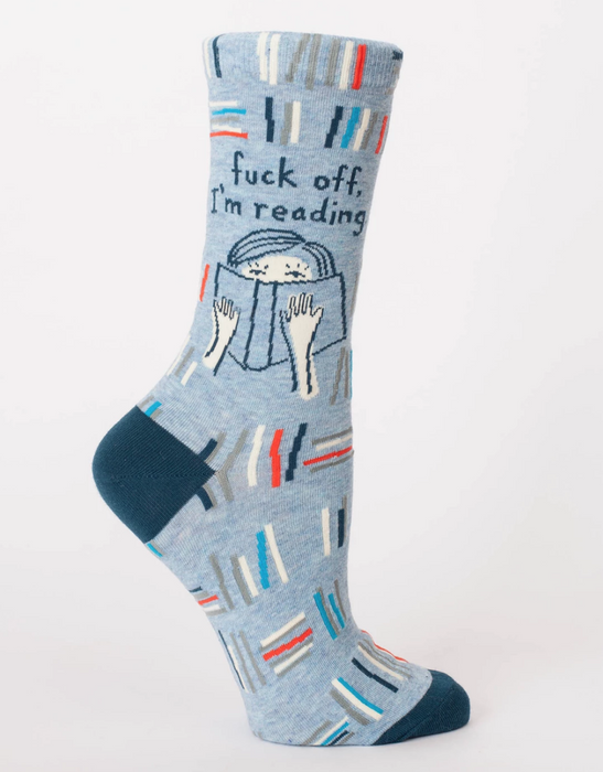 Blue Q | F**k off, I'm Reading Crew Socks-Blue Q-Homing Instincts