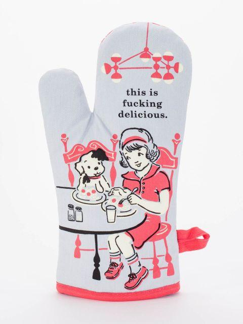 Blue Q | F**king Delicious Oven Mitt-Blue Q-Homing Instincts