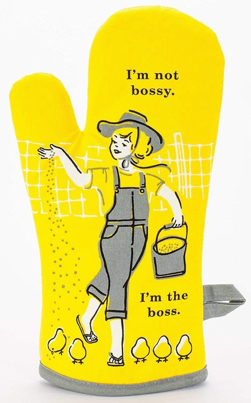 Blue Q | I'm Not Bossy, I'm the Boss Oven Mitt-Blue Q-Homing Instincts