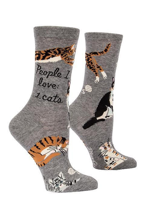 Blue Q | People I Love Cats Socks-Blue Q-Homing Instincts