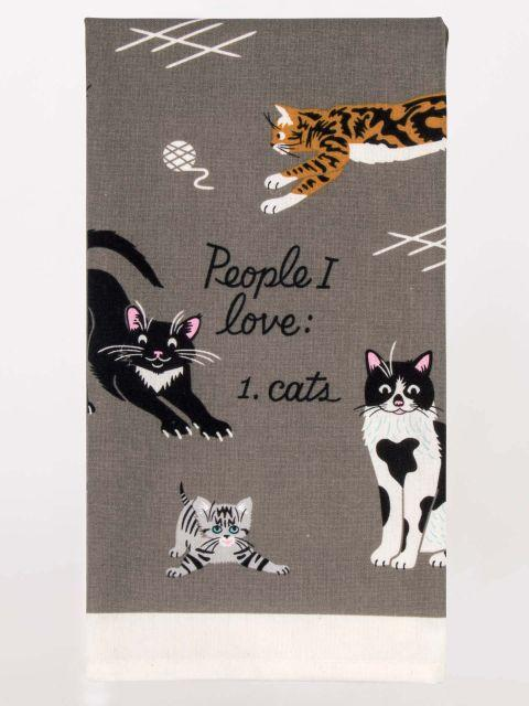 Blue Q | People I Love, Cats Tea Towel-Blue Q-Homing Instincts