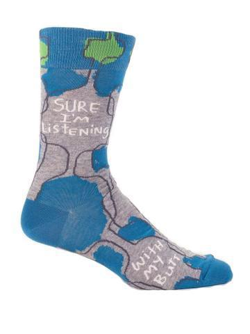 Blue Q | Sure I'm Listening Socks-Blue Q-Homing Instincts