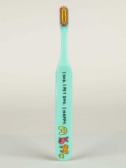Blue Q | Toothbrush - I Sad. I Pet Dog. I Happy.-Blue Q-Homing Instincts