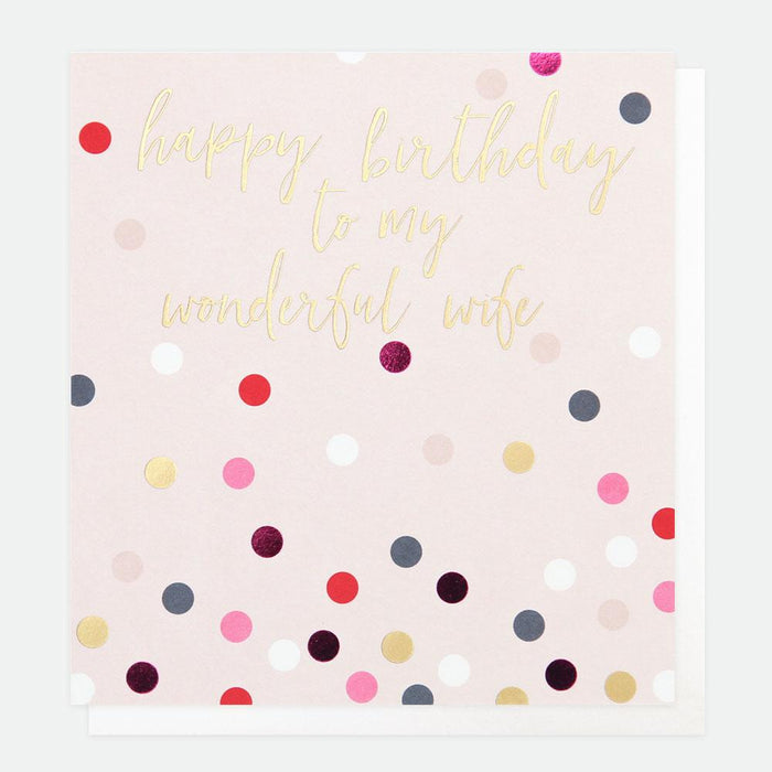 Card - Happy Birthday Wonderful Wife by Caroline Gardner-Scarpa Imports-Homing Instincts