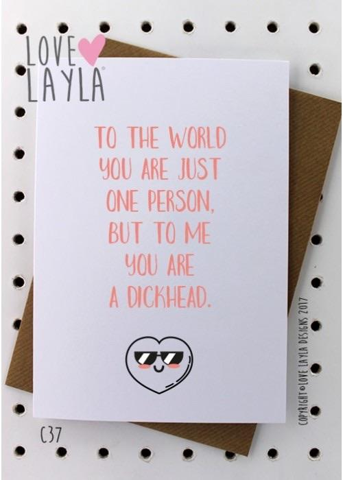 Card - To the world you are just a person-Love Layla-Homing Instincts