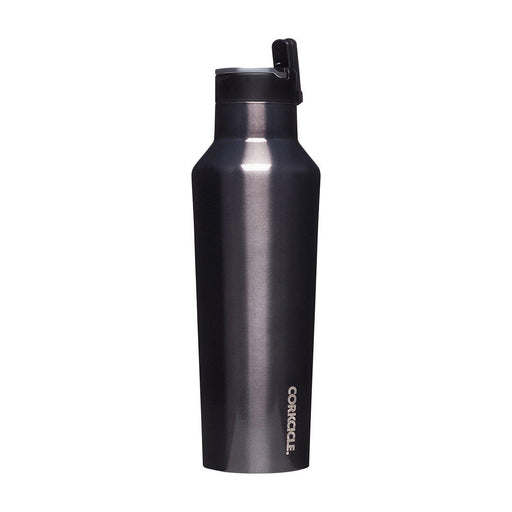 Corkcicle | Metallic Sports Canteen Bottle 600ml - Gunmetal-Corkcicle-Homing Instincts