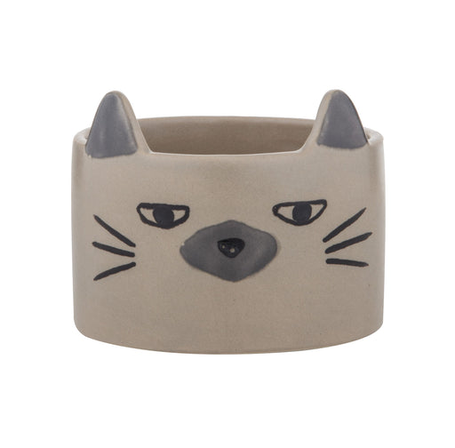 Emporium | Caza Cat Pot White-Albi Imports-Homing Instincts