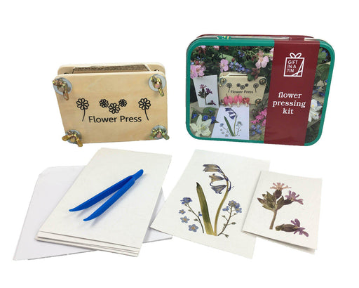 Flower pressing kit in a tin-Homing Instincts