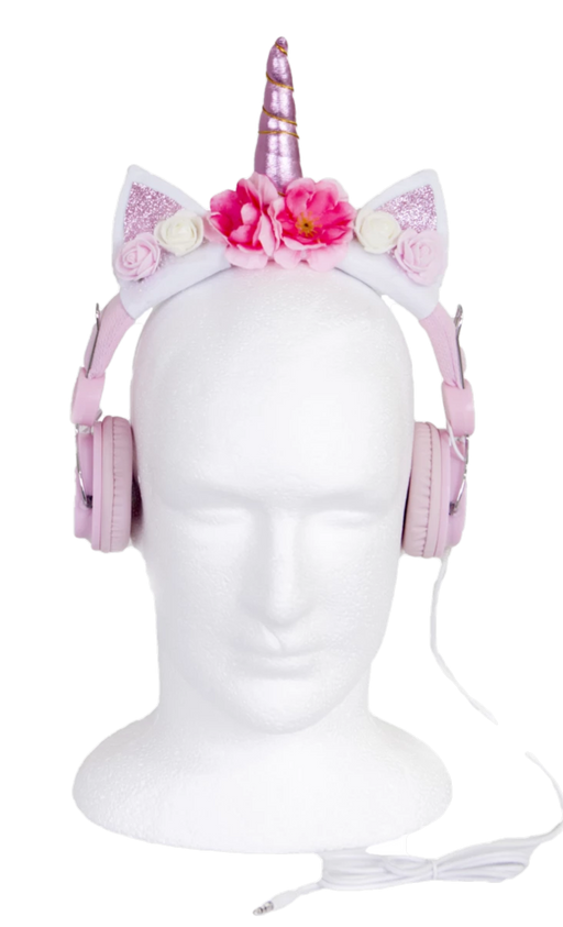 Flower Unicorn Headphones-Kids Concepts-Homing Instincts