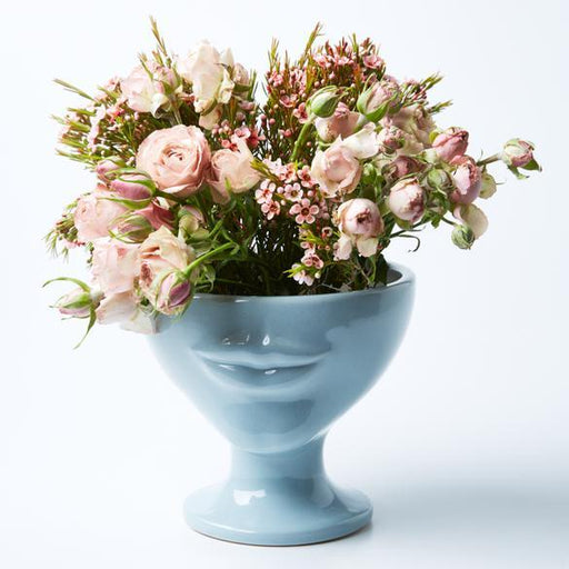Jones & Co | Simone Sky Blue Vase-Jones & Co-Homing Instincts