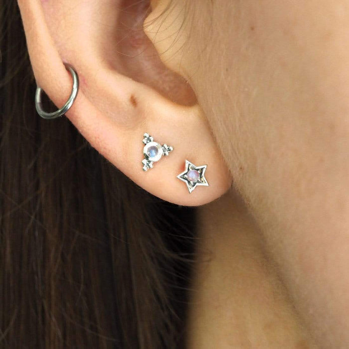 Midsummer Star | Mystic Light Moonstone Earrings-Midsummer Star-Homing Instincts