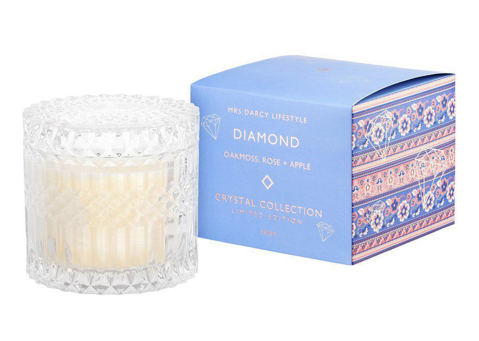 Mrs Darcy | Chic Crystal Candle (Medium)-Mrs Darcy-Homing Instincts