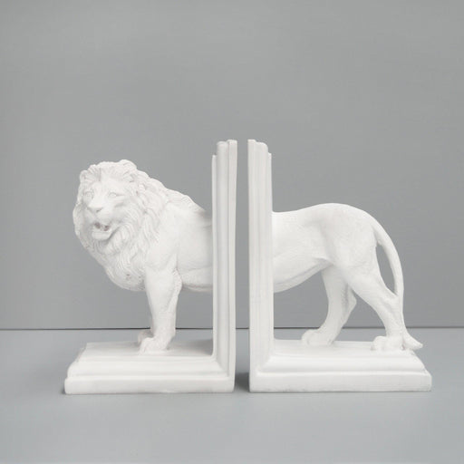 White Moose | Lion Bookends-White Moose-Homing Instincts