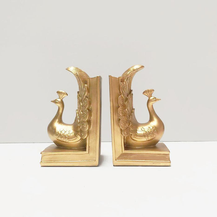 White Moose | Peacock Bookends Gold-White Moose-Homing Instincts