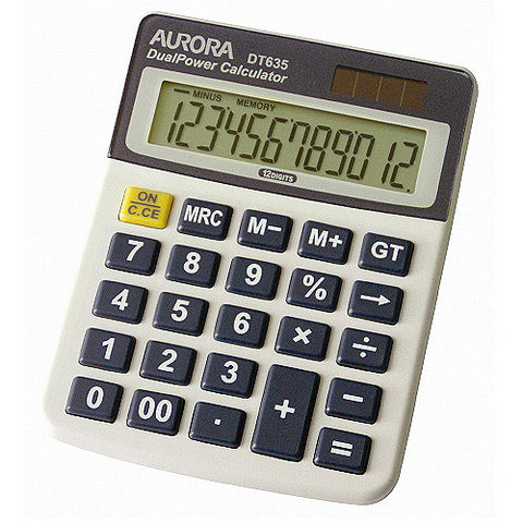 Aurora Calculator DT 635 12 Digit - Soca Computer Accessories Supplies