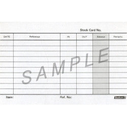 "Stock Card 4 x 6""(50pcs) - Soca Computer Accessories Supplies"