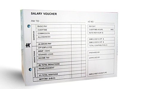 Salary Voucher Pad - Soca Computer Accessories Supplies