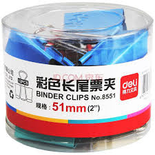 "Binder Clip 2"" Colour 12pcs (51mm) - Soca Computer Accessories Supplies"