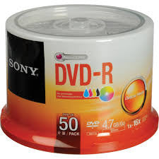 Sony DVD+-R 50's per spindle - Soca Computer Accessories Supplies