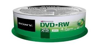 Sony DVD-RW 25's per spindle - Soca Computer Accessories Supplies