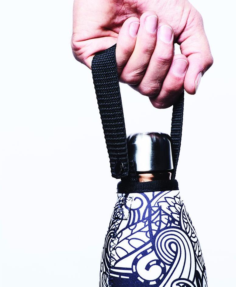 "TRVLR by BBBYO, Cooler Carry Cover for Corkcicle® ""MIDNIGHT MANDALA"" - 25 oz"