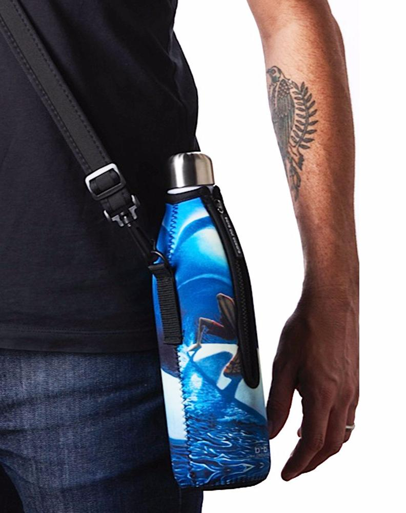 "TRVLR by BBBYO - for KLEAN KANTEEN® ""Classic"" - Cooler Carry Cover ""TROPICAL"" - 27 oz"