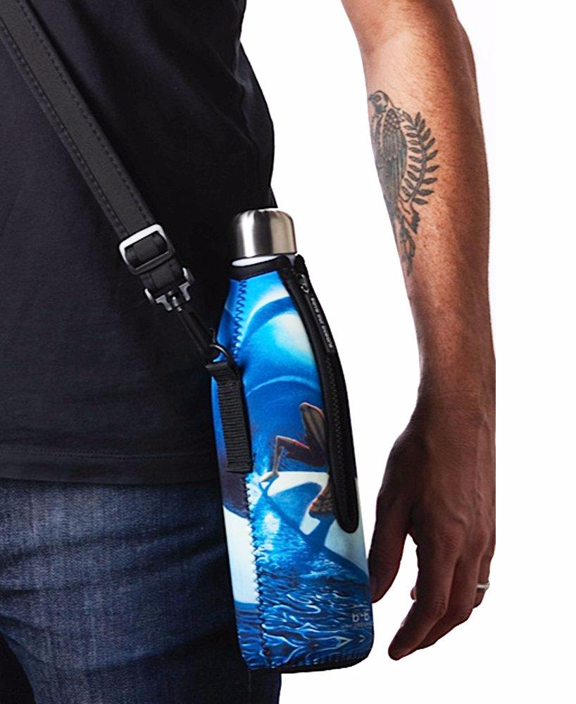 "TRVLR by BBBYO - for HYDROFLASK® - Cooler Carry Cover ""POLAR OPPOSITE"" - 18 oz"