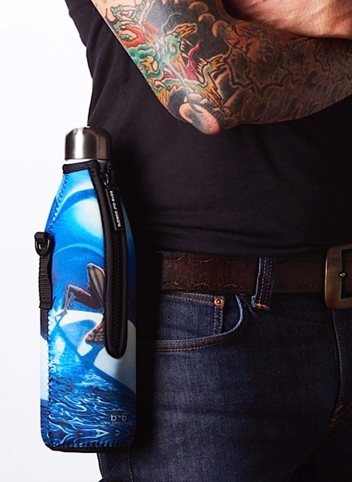 "TRVLR by BBBYO Cooler Carry Cover ""BLUE MOON"" by Jay Alders - 25 oz"