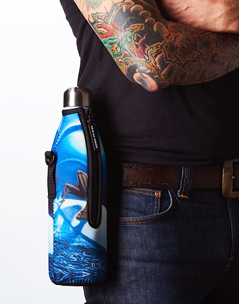 "TRVLR by BBBYO Cooler Carry Cover ""TROPICAL"" - 17 oz"