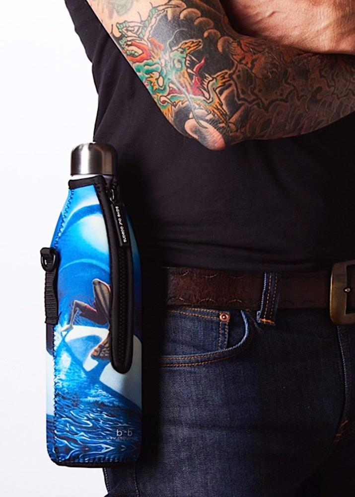 "TRVLR by BBBYO - for HYDROFLASK® - Cooler Carry Cover ""FREQUENCY"" - 21 oz"