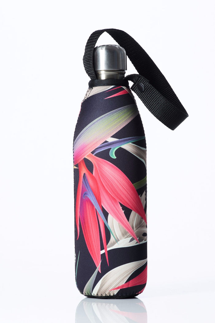 "TRVLR by BBBYO Cooler Carry Cover ""PINK BIRD OF PARADISE"" - 25 oz"