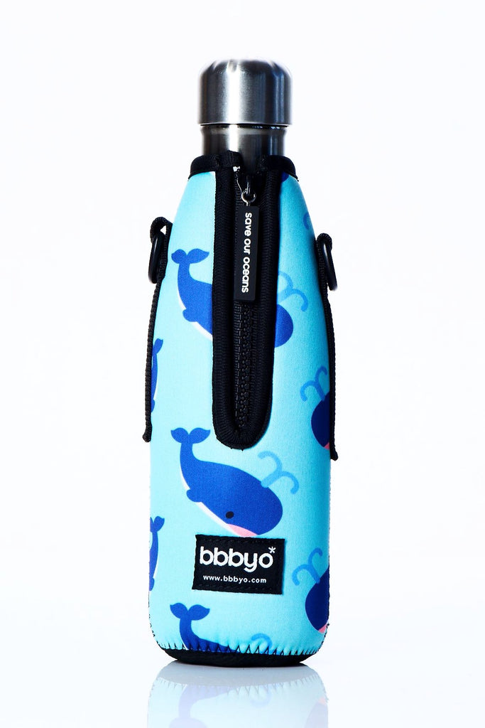 "TRVLR by BBBYO Cooler Carry Cover ""BLUE WHALE"" - 17 oz"