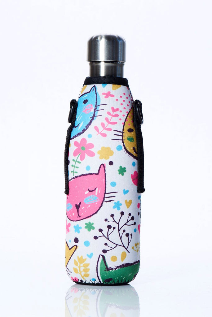 "TRVLR by BBBYO Cooler Carry Cover ""LUV CATS"" - 17 oz"