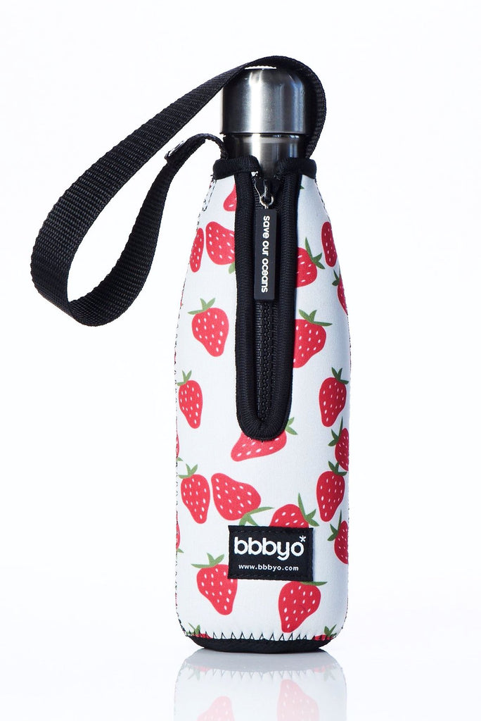 "TRVLR by BBBYO Cooler Carry Cover ""STRAWBERRY"" - 17 oz"