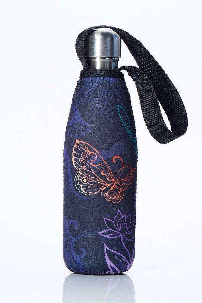 "TRVLR by BBBYO Cooler Carry Cover ""BUTTERFLY"" - 17 oz"