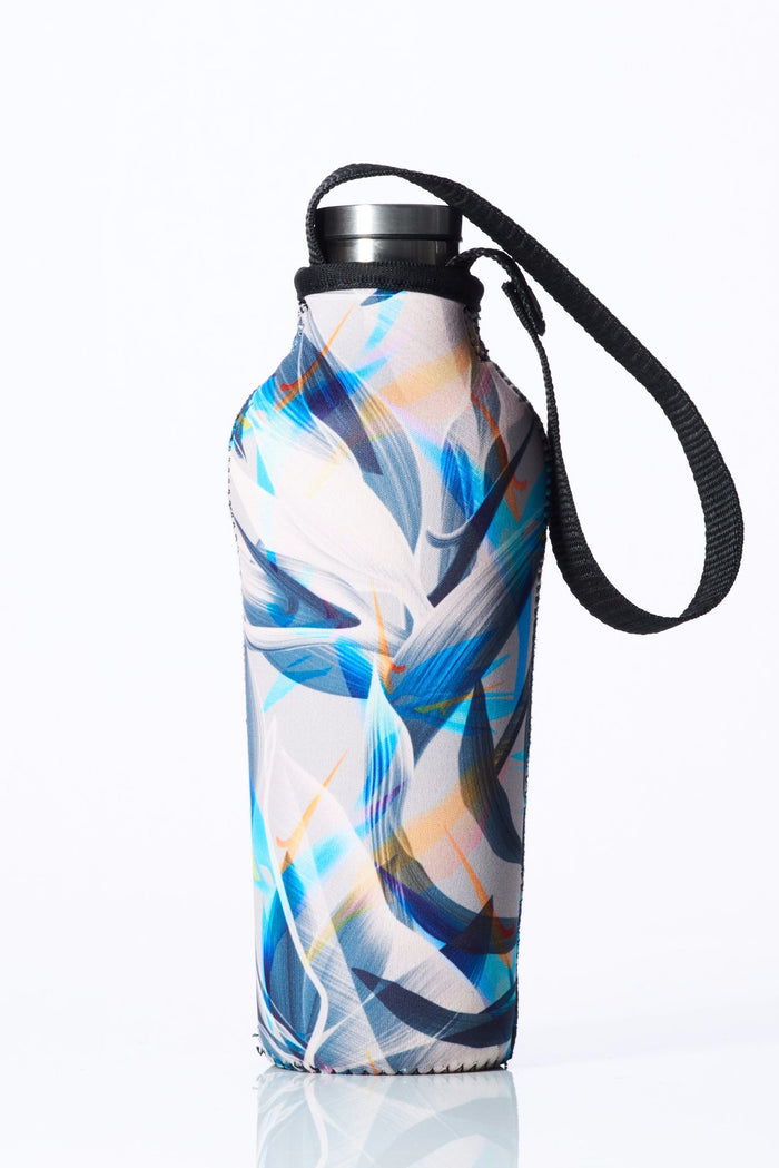 "TRVLR by BBBYO, Cooler Carry Cover for Corkcicle® ""BLUE BIRD OF PARADISE"" - 17 oz"