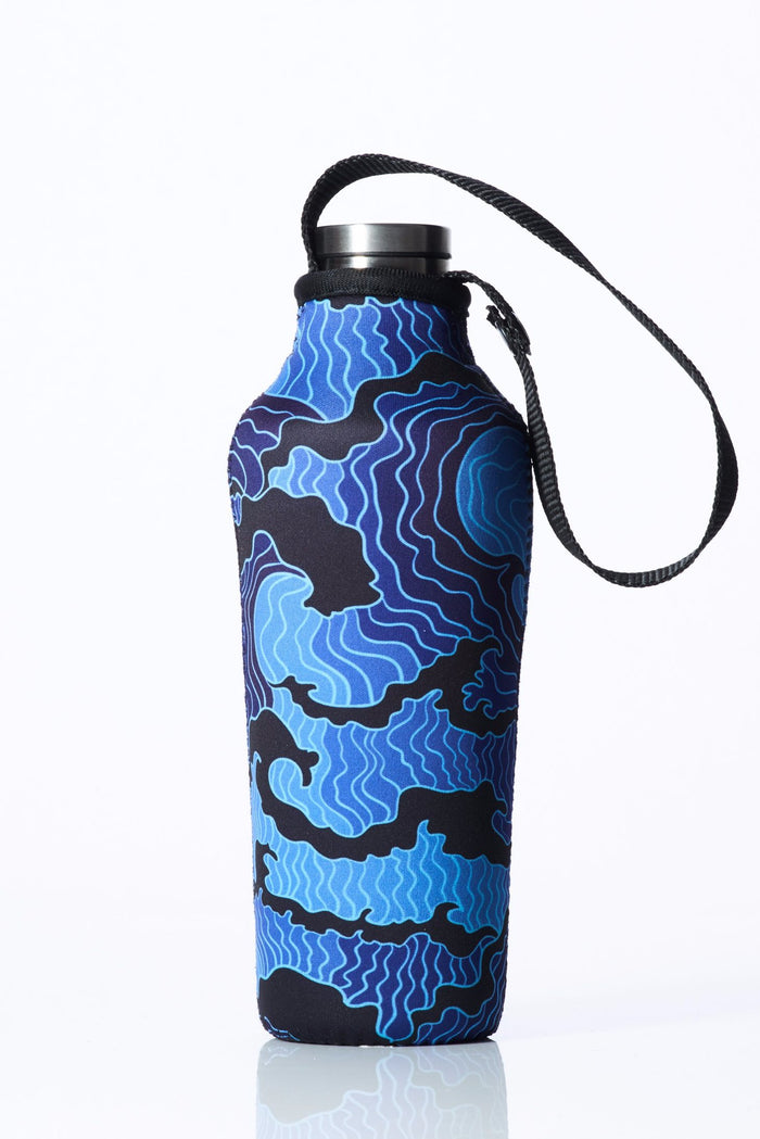 "TRVLR by BBBYO, Cooler Carry Cover for Corkcicle® ""TSUNAMI"" - 17 oz"