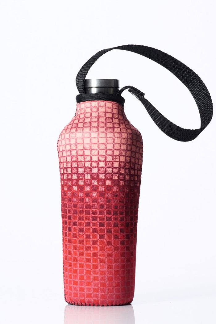 "TRVLR by BBBYO, Cooler Carry Cover for Corkcicle® ""PINK MOSAIC"" - 17 oz"