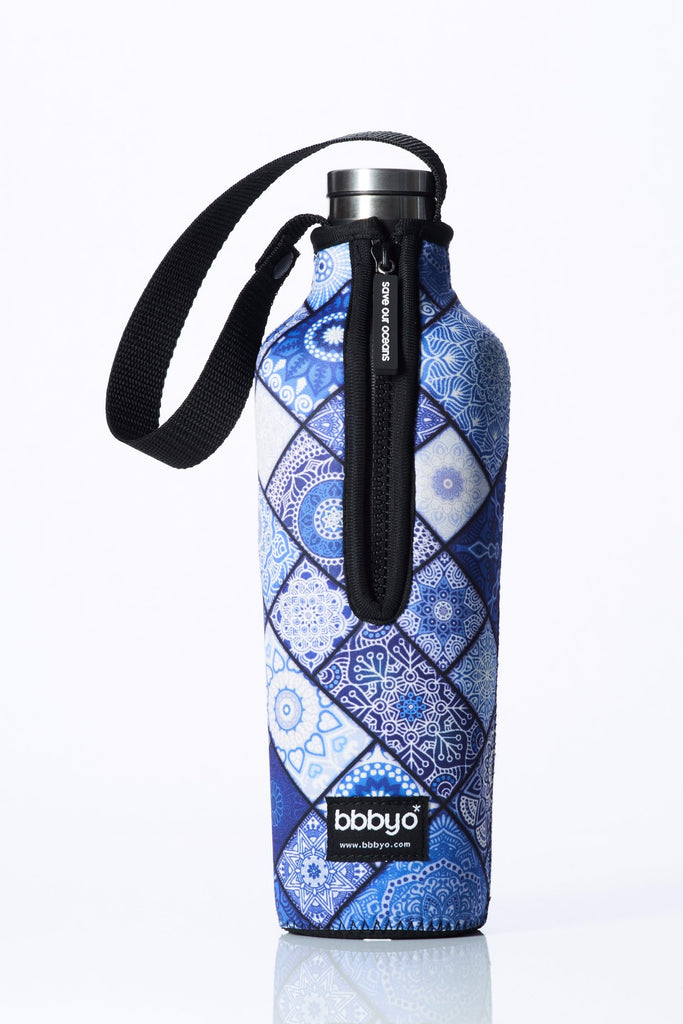 "TRVLR by BBBYO, Cooler Carry Cover for Corkcicle® ""CHINOISE"" - 25 oz"