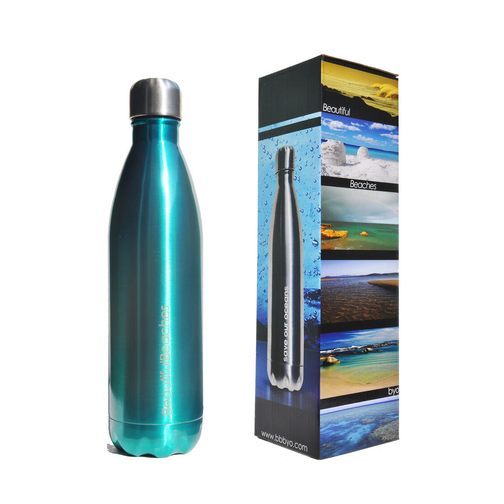 BBBYO FB + CARRY COVER COMBO ('JAY ALDERS-Tidal Moon') STAINLESS STEEL INSULATED BOTTLE 25 oz
