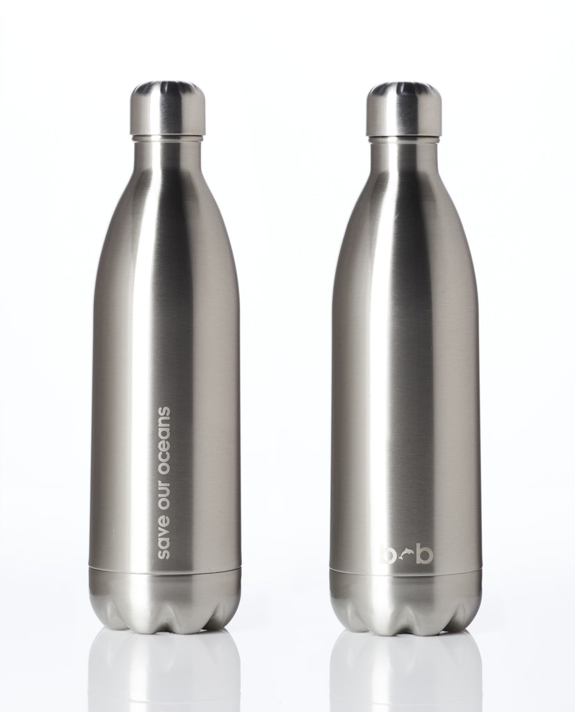 BBBYO FB + CARRY COVER COMBO ('BLACK LEAF') STAINLESS STEEL INSULATED BOTTLE 34 oz