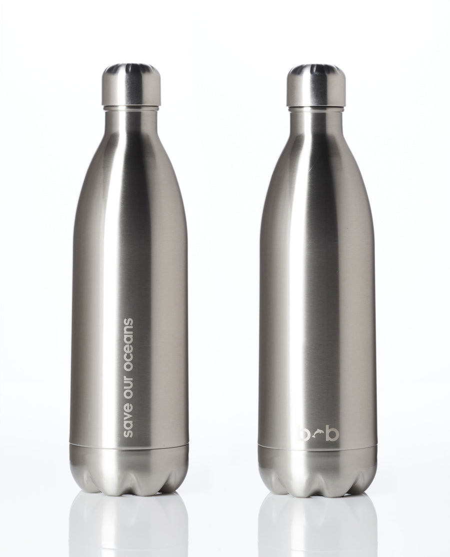 BBBYO FB + CARRY COVER COMBO ('SILVER CIRCUIT') STAINLESS STEEL INSULATED BOTTLE 34 oz