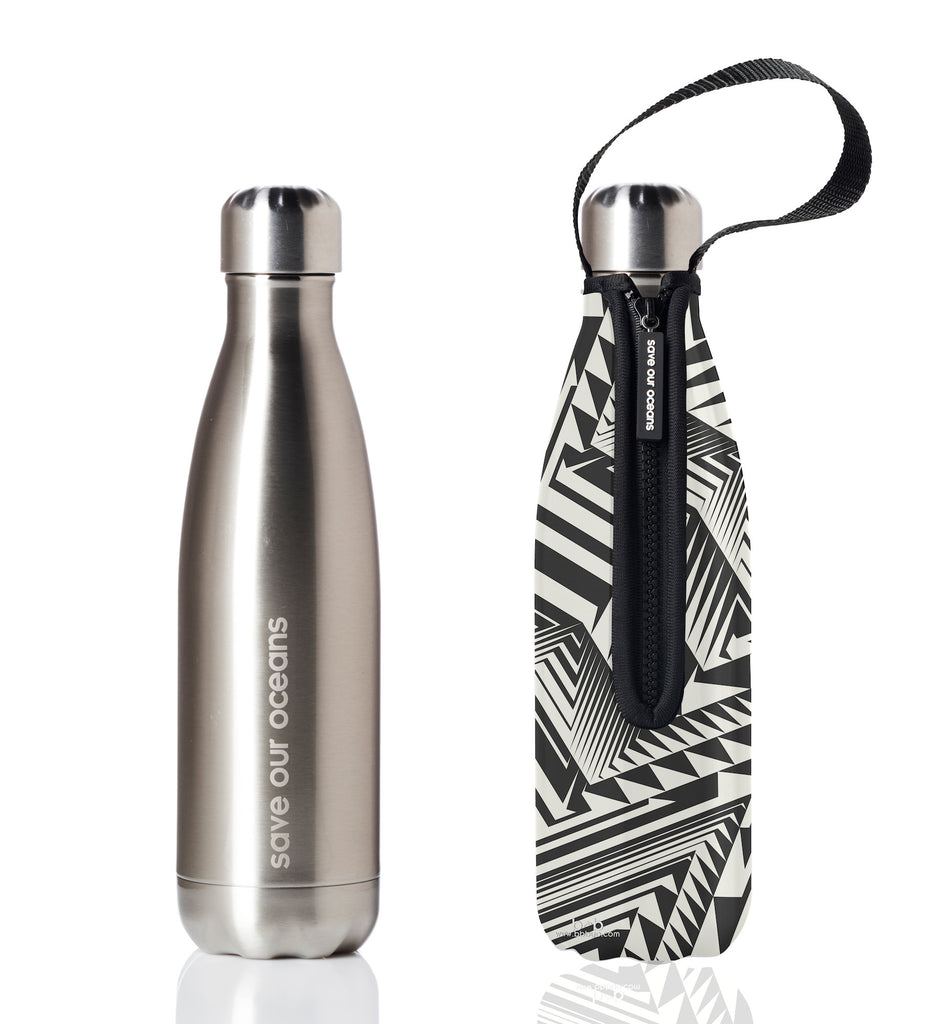 BBBYO FB + CARRY COVER  ('AZTEC') STAINLESS STEEL INSULATED BOTTLE 17 oz